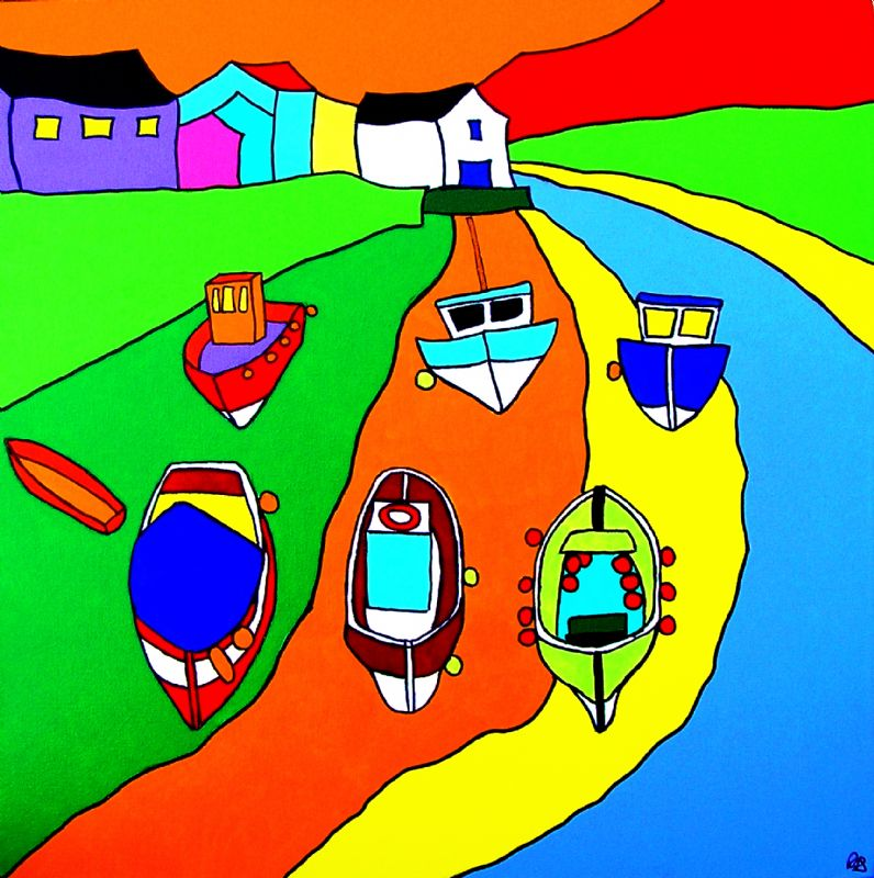 Boats at Staithes Yorkshire