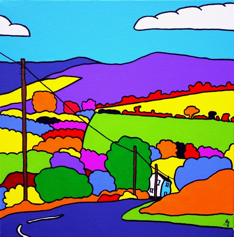 Pen Cerrig-calch, Black Mountains, Wales. Painting Rob Soar
